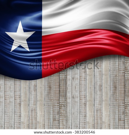Texas of silk with copyspace for your text or images and wood background - stock photo