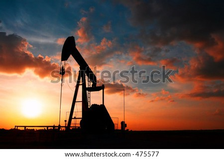 Texas Pump Jack - stock photo