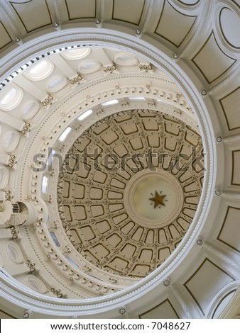 Texas State Capitol Building Dome interior details.