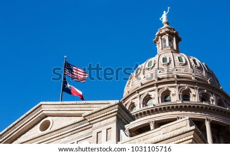 Texas State Capitol dome in Austin