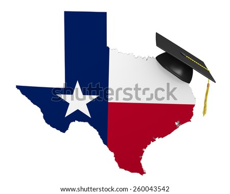 Texas state college and university education - stock photo