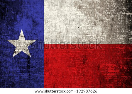 Texas State Flag painted on wood background  - stock photo