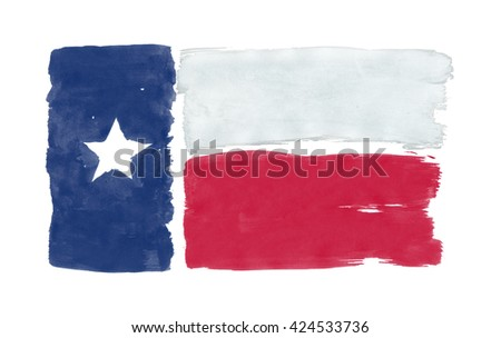 Texas State Flag with colored hand drawn lines - stock photo