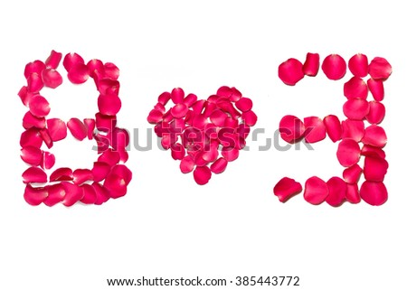 text arranged by champa flowers, Black background isolated, (8-3, women day)