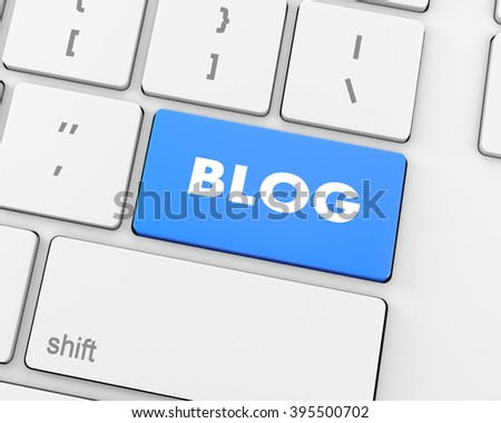 Text blog button 3d render
