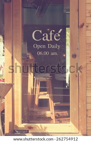 text cafe in front of mirror coffee shop - vintage effect style pictures & Cafe Door Stock Images Royalty-Free Images \u0026 Vectors | Shutterstock Pezcame.Com