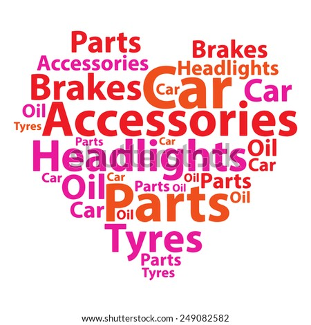 Text cloud. Car wordcloud. Typography concept. Illustration. - stock photo