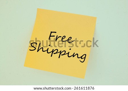Text free shipping on the short note texture background
