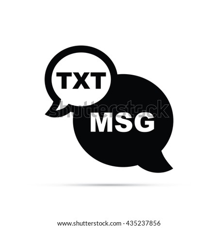 Text Message Icon.  Raster Version - stock photo