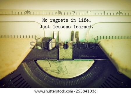 essay on regrets in life The 9 most common regrets people have at the end of life log in my account saved articles  the 9 most common regrets people have at the end of life.