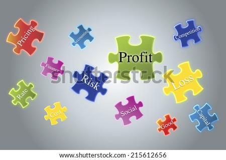 text profit as a concept. - stock photo
