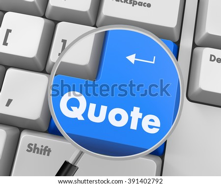 Text quote button 3d render