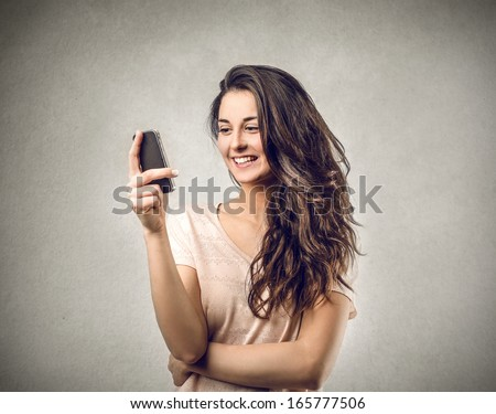 Text to a Friend - stock photo