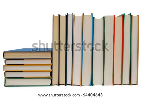 Textbook's studying exam - stock photo