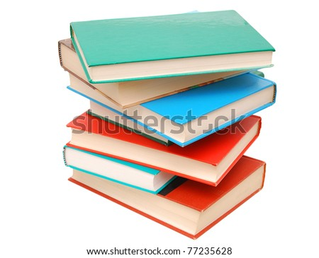 textbooks on studying classes - stock photo