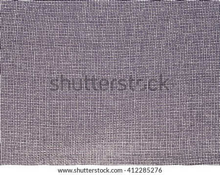 textile background - gray transparent silk fabric with chiffon weave pattern of threads close up - stock photo