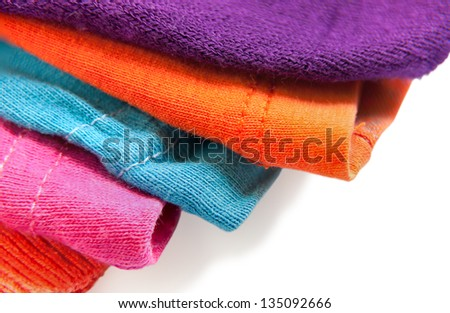 Textile Edges with different colors - stock photo