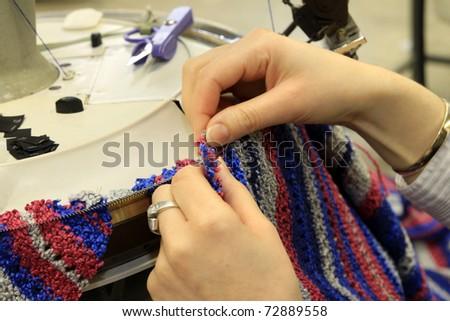 Textile Factory - stock photo