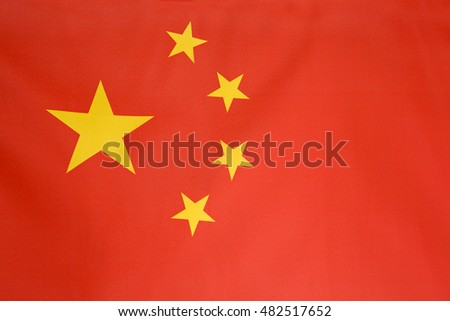 Textile flag of China for background
