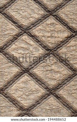 textile fragment ornament - stock photo