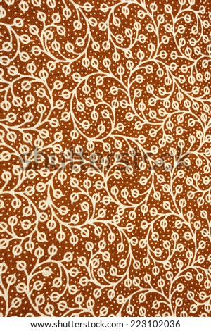 textile pattern with floral concept useful as background - stock photo