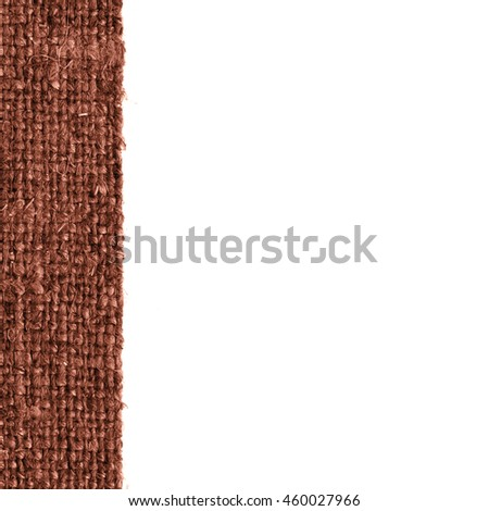 Textile tablecloth, fabric decoration, buckwheat canvas, stylish material textured background