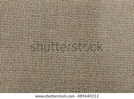Textile Texture, Close Up of Brown Sack or Burlap Fabric Pattern Background in Pastel Colors Tone.
