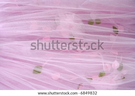 Textile wedding background, pink - stock photo