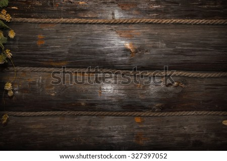 Texture, a wall made of wooden logs - stock photo