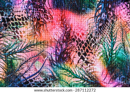texture and abstract of print fabric striped natural for background - stock photo