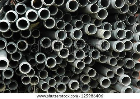 texture and pattern of plastic pipe - stock photo