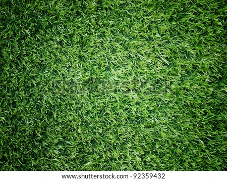 Texture and surface of green turf center light for sport background - stock photo