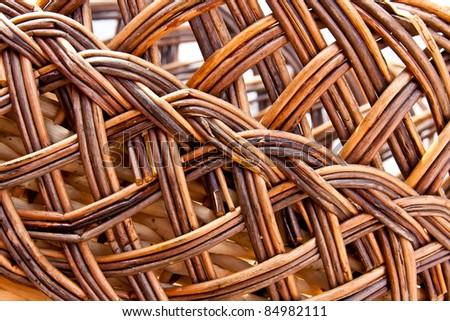 texture. background. Manual wickerwork willow - stock photo