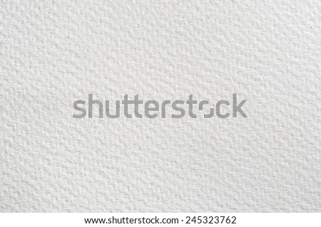 Texture background of absorbent white watercolour paper. - stock photo