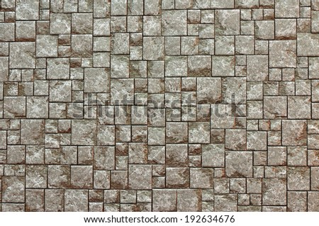 Texture Background of Brown brick wall - stock photo