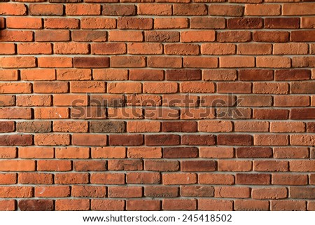 Texture Background of grunge Red brick wall