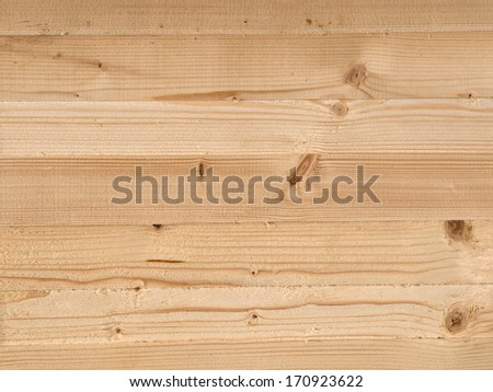 Texture background  of new-built wooden wall - stock photo