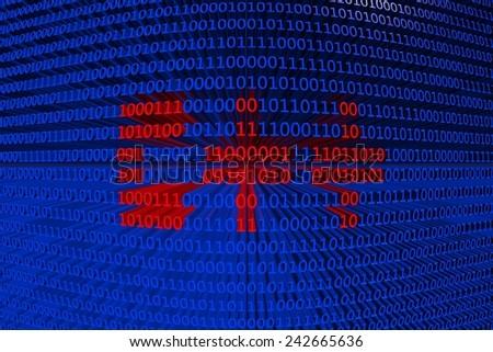 texture binary code C++ - stock photo