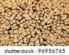 Texture - Birch fire wood - stock photo