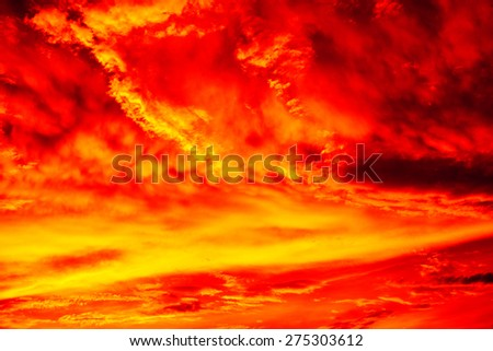 Texture clouds sunset sunrise. Early summer morning - stock photo