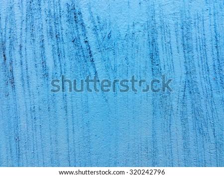 Texture concrete painted with blue paint - stock photo