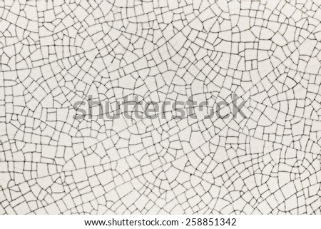 texture crack of tile - stock photo