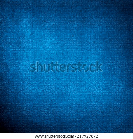 texture created from small squares similar to mosaic, abstract blue background of elegant dark blue vintage grunge background texture black on border with light center blank for luxury brochure