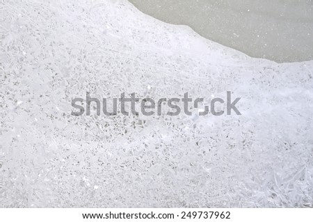 Texture different ice from river water - stock photo