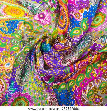 texture fabrics closeup - stock photo