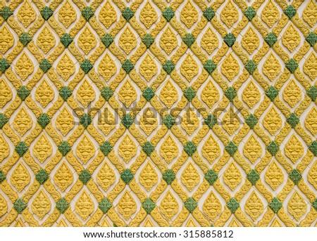 Texture from wall in Thai temple. - stock photo