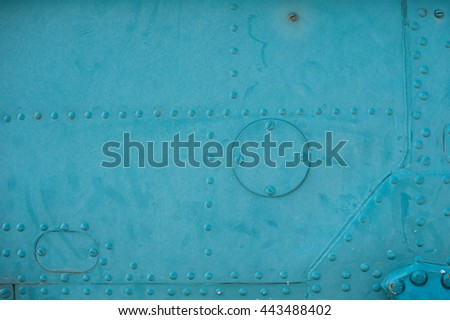 texture light skin of the aircraft with rivets