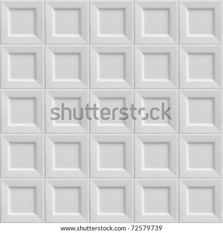 Texture made out of square white plates. Seamless tiled Background - stock photo