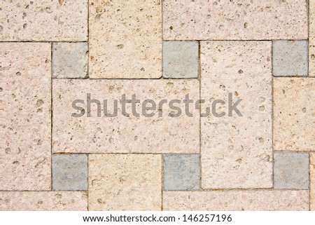 Texture of a brown stone wall.  - stock photo