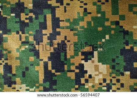 Texture of a camouflage cloth. - stock photo